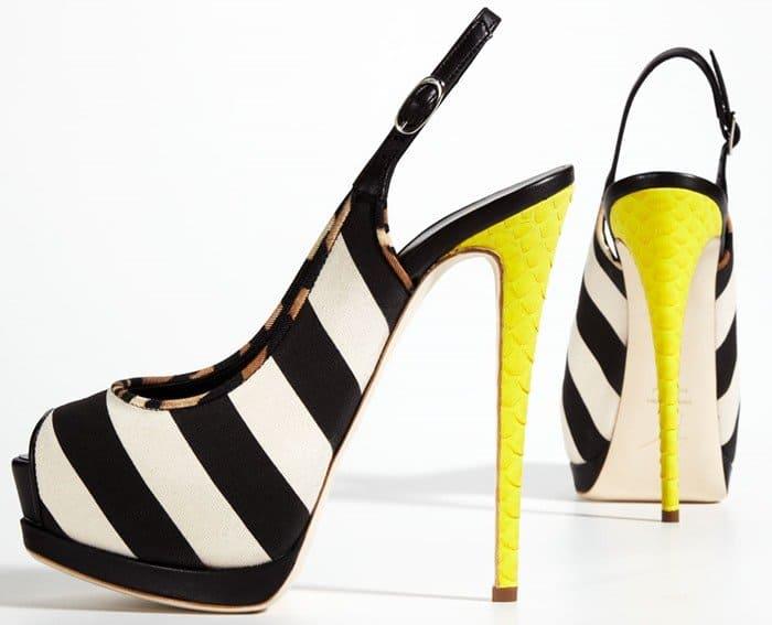 Giuseppe Zanotti Striped Canvas Sandals