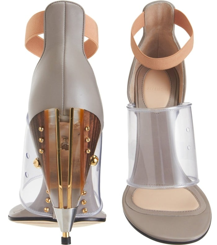 Givenchy Gradient Cone Heel Sandals Front Back