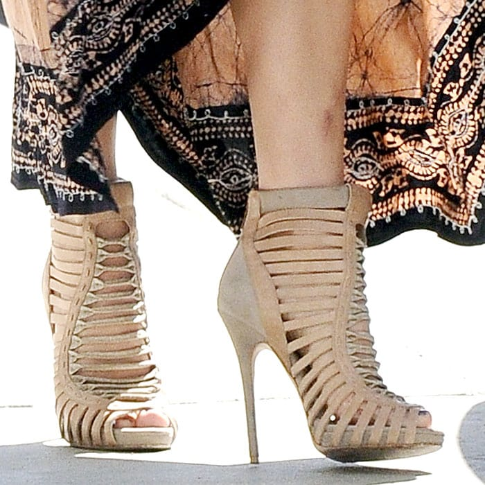 Jennifer Lopez Jimmy Choo Spring 2013 caged booties