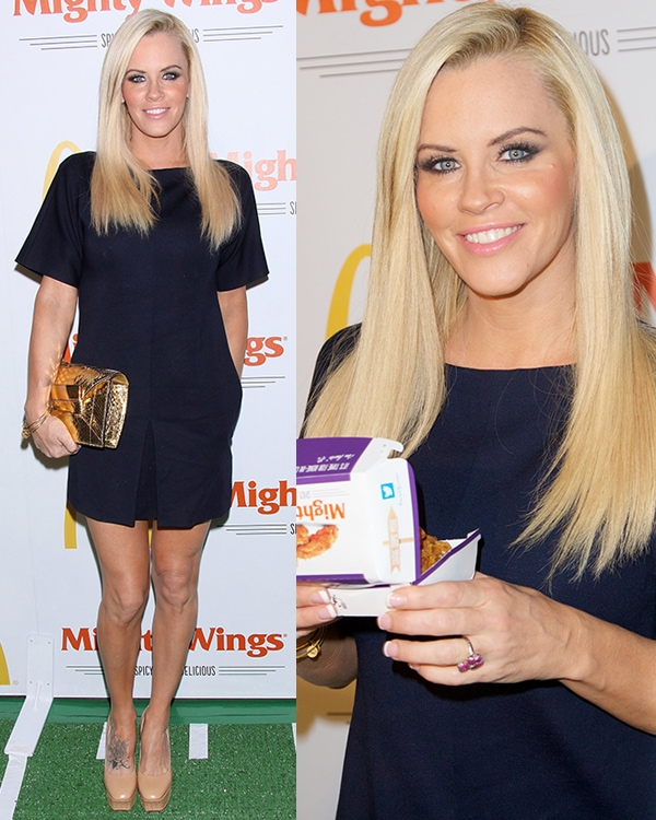 Jenny McCarthy flaunted her legs at the launch of McDonald's New Mighty Wings