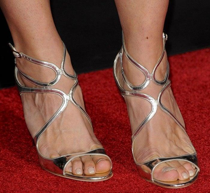 Katee Sackhoff's feet in Jimmy Choo sandals