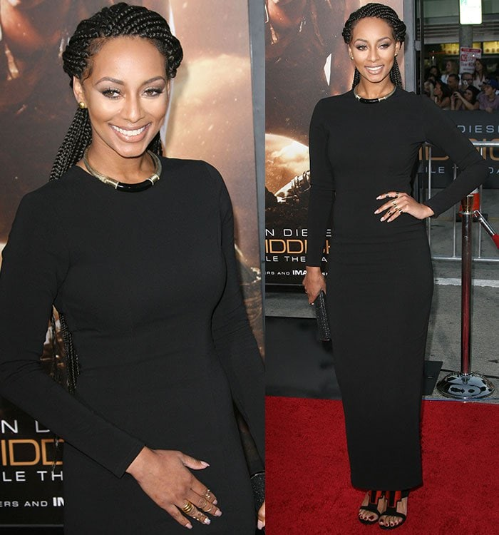 """Keri Hilson wears her hair in box braids at the premiere of """"Riddick"""""""