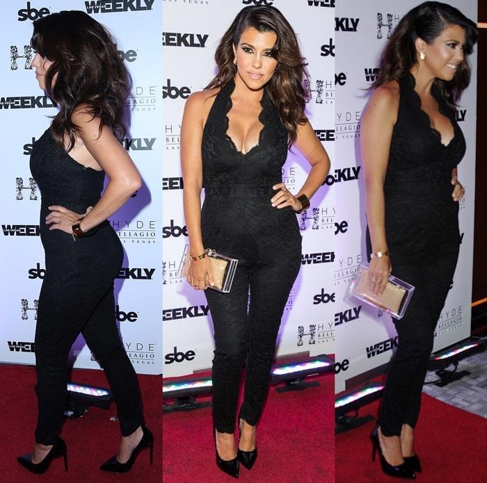 Kourtney Kardashian rocking Saint Laurent 'Thorn' pumps