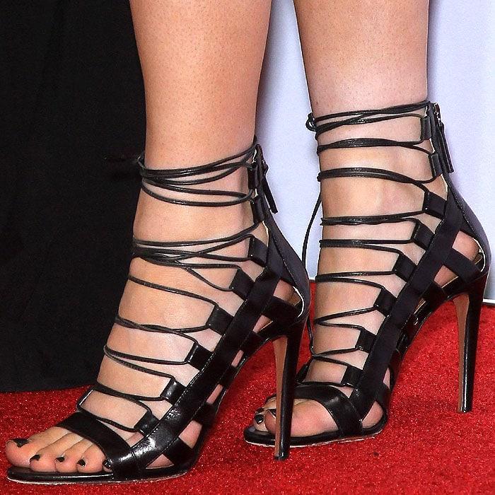 Kylie Jenner Aquazzura Amazon sandals