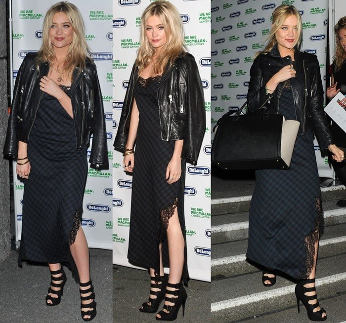 Laura Whitmore attends the Macmillan De'Longhi Art Auction 2013 at the Royal College of Arts in London on September 23, 2013