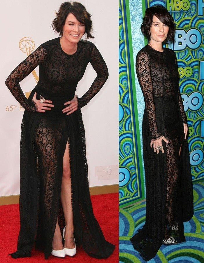 Lena Headey attends the 2013 Emmy Awards