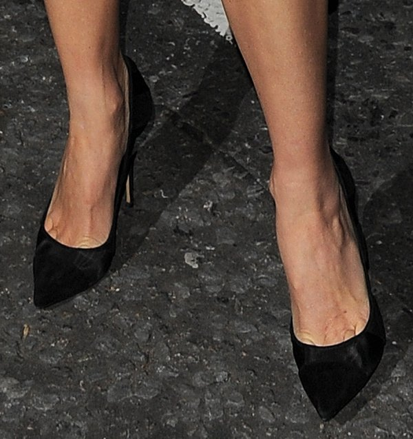 Naomi Watts opted for a pair of Casadei pumps from the Fall 2013 collection