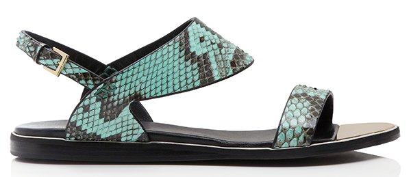 Nicholas Kirkwood Aqua Python Sandals