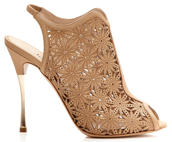 Nicholas Kirkwood Beige Lasercut Platino Sandals