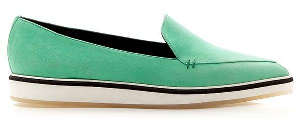 Nicholas Kirkwood Emerald Suede White Loafers