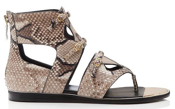 Nicholas Kirkwood Stone Python Gladiator Sandals