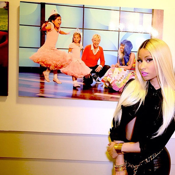 Nicki Minaj's Instagram photos showing her ensemble for her press day in California on September 24, 2013