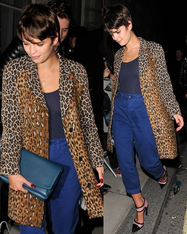 Pixie Geldof at the W magazine dinner to celebrate its September cover issue in London on September 14, 2013