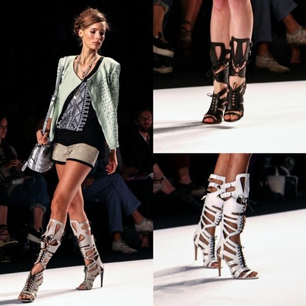 Mercedes-Benz New York Fashion Week Spring/Summer 2014 - Rebecca Minkoff gladiator sandals