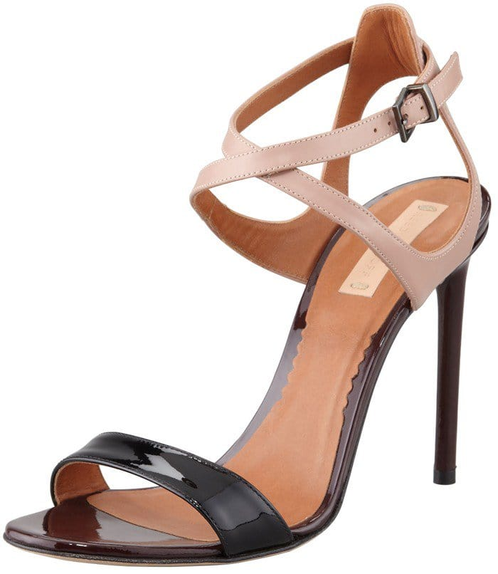 Reed Krakoff Tricolor Ankle Harness Sandal
