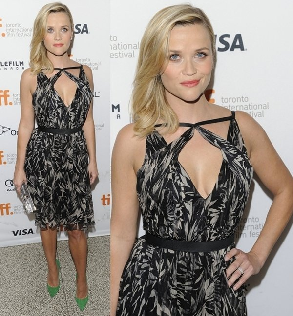 Reese Witherspoon in a printed Jason Wu dress that was both flirty and sophisticated