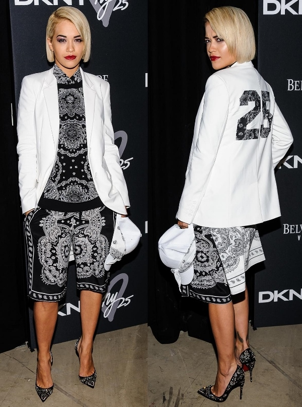 Rita Ora at DKNY's 25th Birthday Party in New York on September 9, 2013