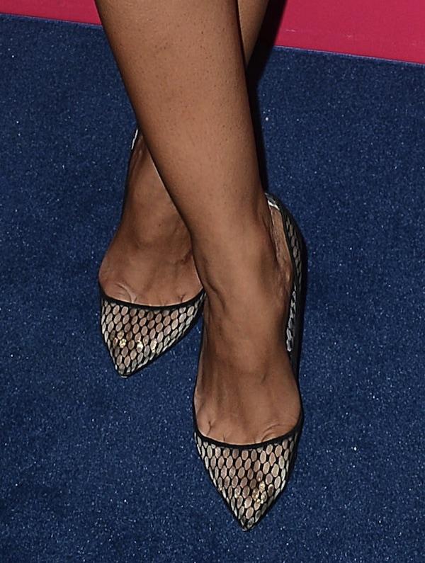 Rocsi Diaz shoes most stylish party