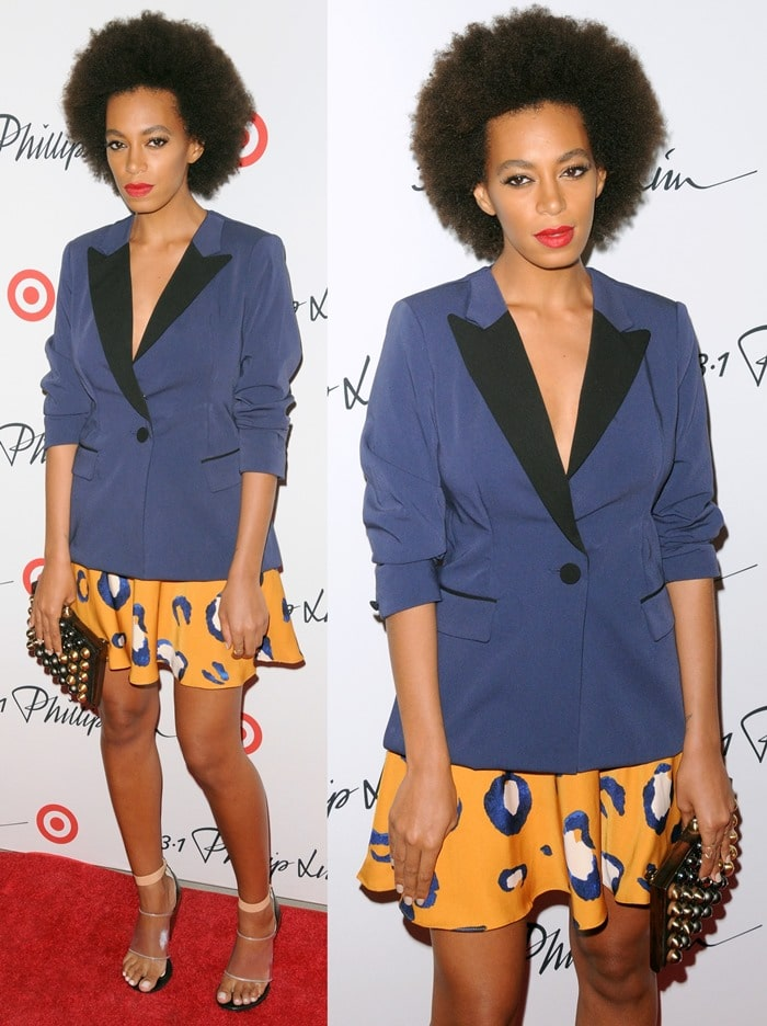 Solange Knowles arriving at the 3.1 Philip Lim for Target launch in Manhattan on September 6, 2013