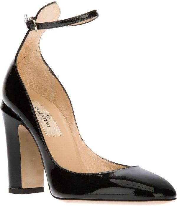 Black Valentino Leather Pumps