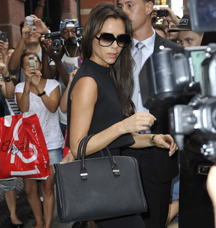 Victoria Beckham shopping in Manhattan, New York, on September 12, 2013
