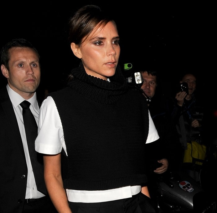 Victoria Beckham arriving at a dinner hosted by British Vogue in London on September 15, 2013
