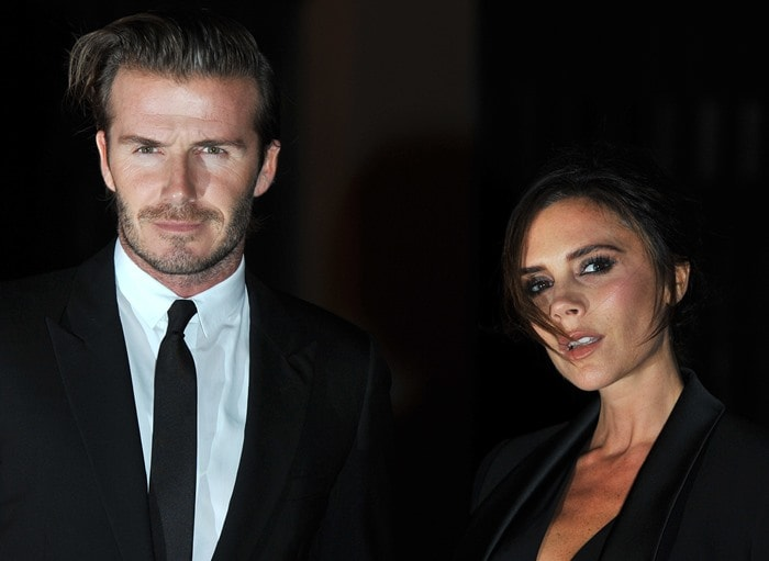 Victoria Beckham leaving an event that celebrated The Global Fund at the Apsley House in London on September 16, 2013
