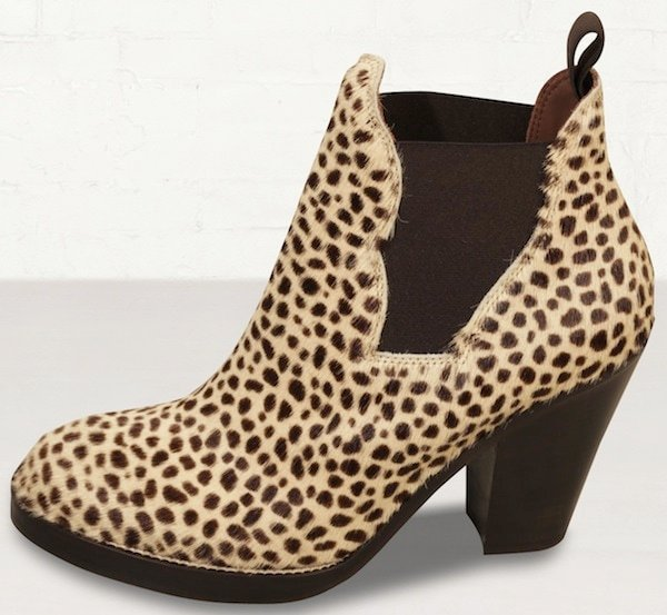 Acne Beige Star Pony Leopard Print Boots