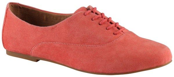 "Aldo ""Foliroli"" Lace-Up Shoes in Peach"