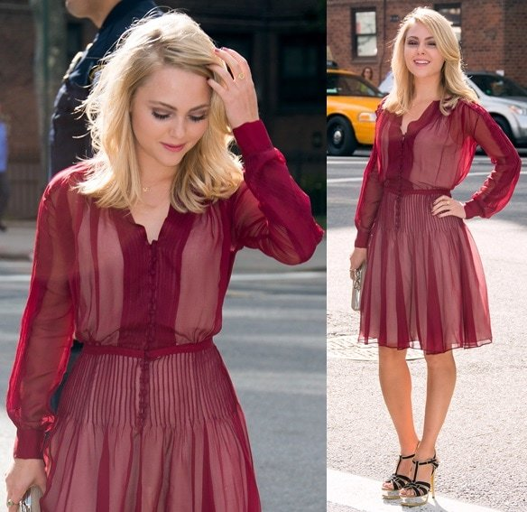 AnnaSophia Robb wearing Saint Laurent to the Diane von Furstenberg presentation during the Spring 2014 New York Fashion Week in New York City on September 8, 2013