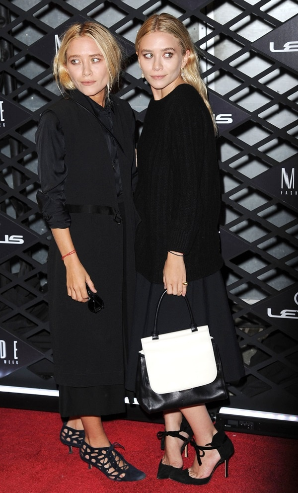 Mary Kate and Ashley Olsen at the Lexus Design Disrupted Fashion Experience during day 1 of Spring 2014 Mercedes-Benz (New York) Fashion