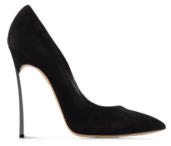 Casadei 'Blade' Pumps in Black Suede