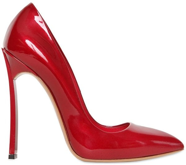 """Casadei Red Patent Leather """"Blade One"""" Pumps"""