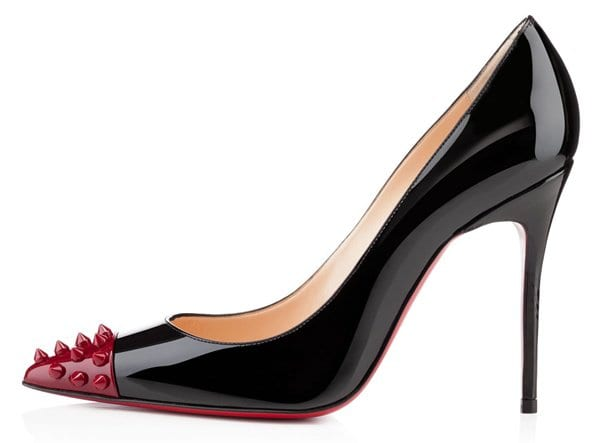Christian Louboutin Geo Pumps in Black Patent Leather