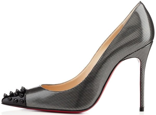 Christian Louboutin Geo Pumps in Gray Patent Leather
