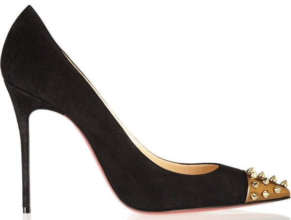Christian Louboutin Geo Pumps in Black Suede