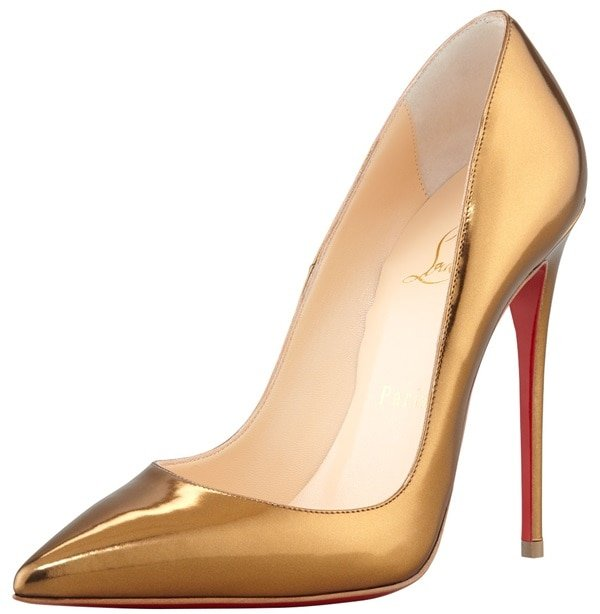 "Christian Louboutin ""So Kate"" Pumps in Mirrored Bronze"