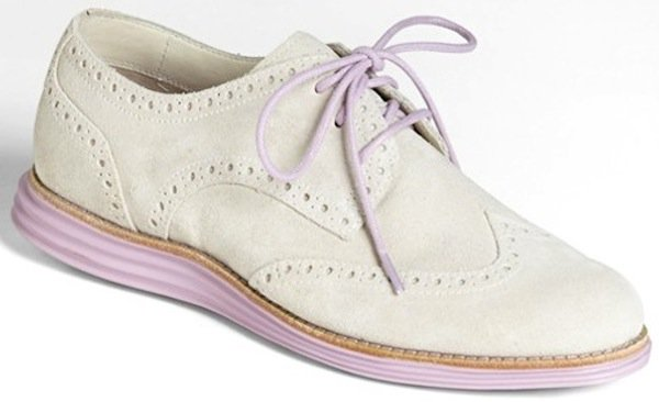 "Cole Haan ""LunarGrand"" Wingtip Oxfords in Ivory"