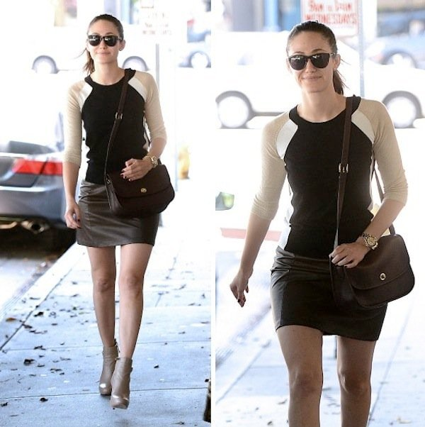 Emmy Rossum looking radiant outside Nine Zero One Salon in West Hollywood on August 29, 2013
