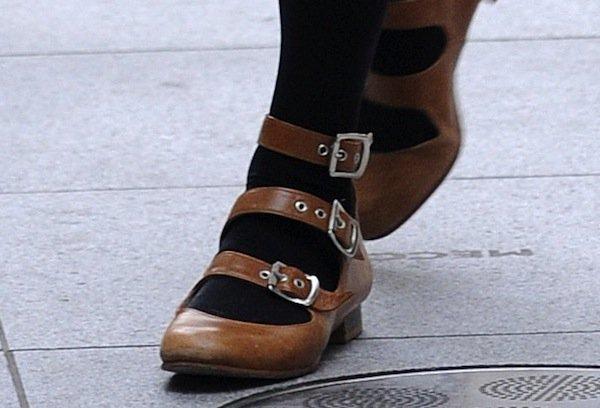 Fearne Cotton's Vivienne Westwood three-strap sandals