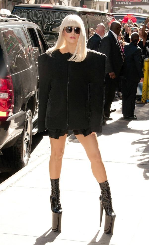Lady Gaga departs GMA