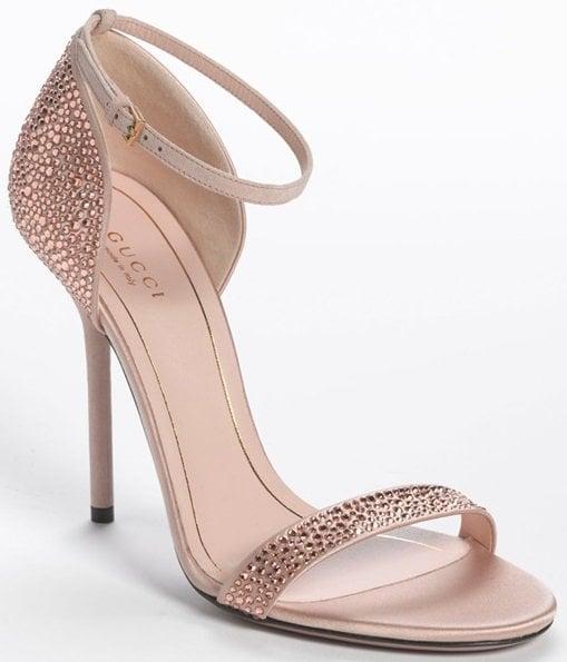 gucci crystal sandals