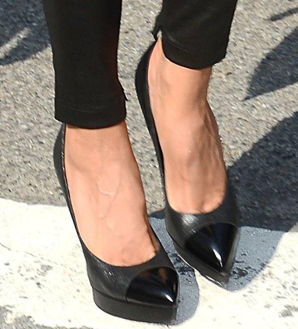 Heidi Klum arrives at the BCBG MAX Azria Show