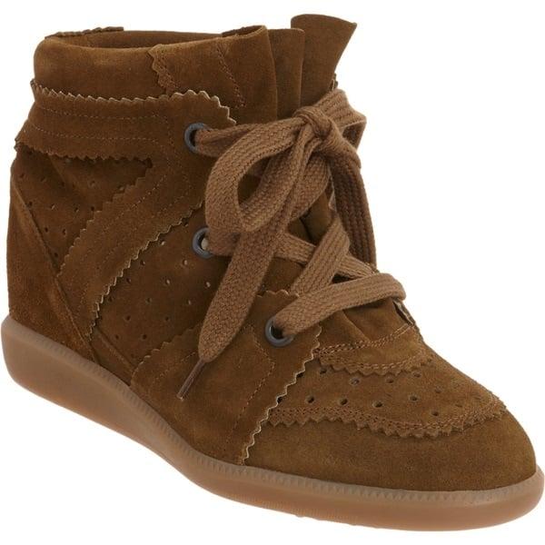 isabel marant bobby sneakers in brown