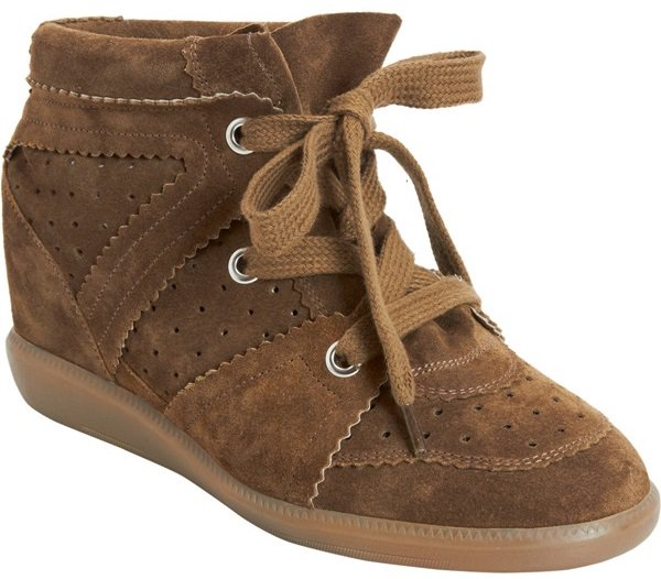 isabel marant bobby sneakers in taupe