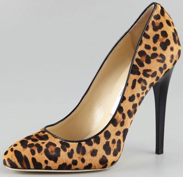 Jimmy Choo Brown Victoria Leopard print Calf Hair Pumps