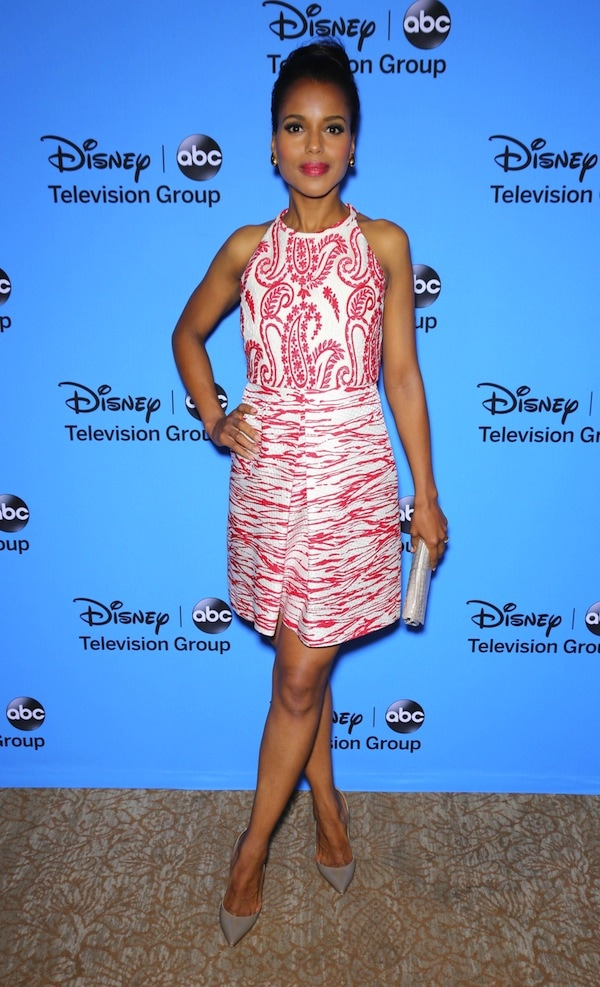 """Kerry Washington flaunts her toned legs at theDisney & ABC Television Group's """"2013 Summer TCA Tour"""""""