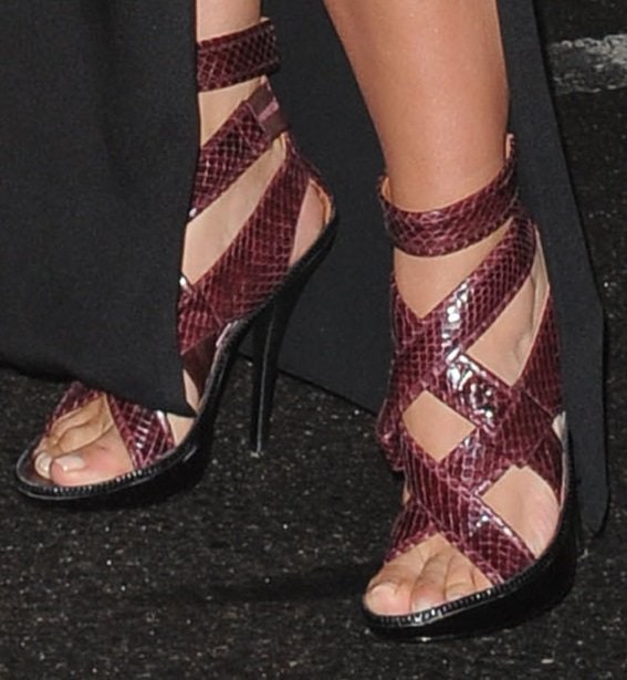 Kim Kardashian shows off her feet shoes from Givenchy's Fall 2013 collection