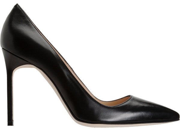Manolo Blahnik 'BB' Pumps in Black Leather