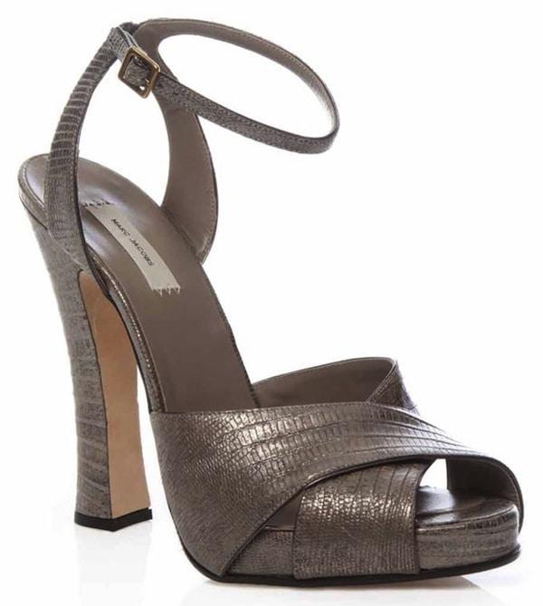 Marc Jacobs Python Patchwork Sandals, 120 mm